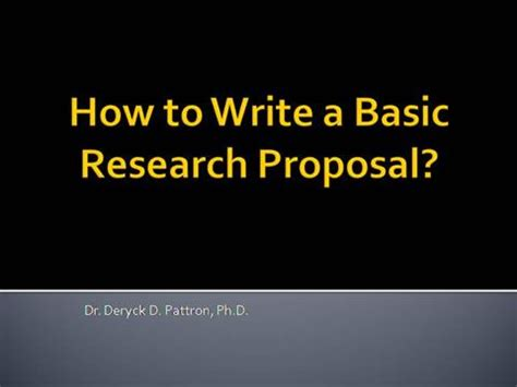 How to Write a Political Science Research Proposal